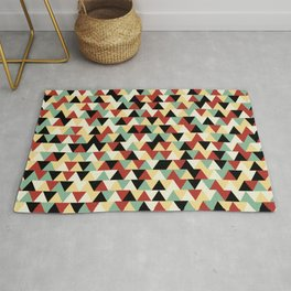 Retro Linoleum Triangles Rug