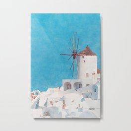 Mediterranean journey-Santorini Metal Print