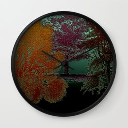 Deep Into The Forest - Trees Design Wall Clock