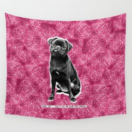 YEAH, NO...DON'T PUT ME DOWN FOR CARDIO. PINK GLITTER. Wall Tapestry