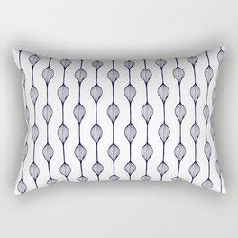 Garlands in Navy Blue Rectangular Pillow