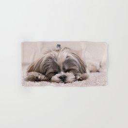 Sleeping Puppy Hand & Bath Towel