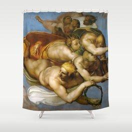 "Michelangelo ""The Last Judgment""(detail) Shower Curtain"
