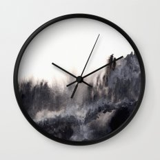 Watercolor abstract landscape 17 Wall Clock