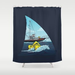 Jaws: The Orca Shower Curtain