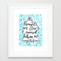 tfios Framed Art Prints featuring TFIOS by IndigoEleven