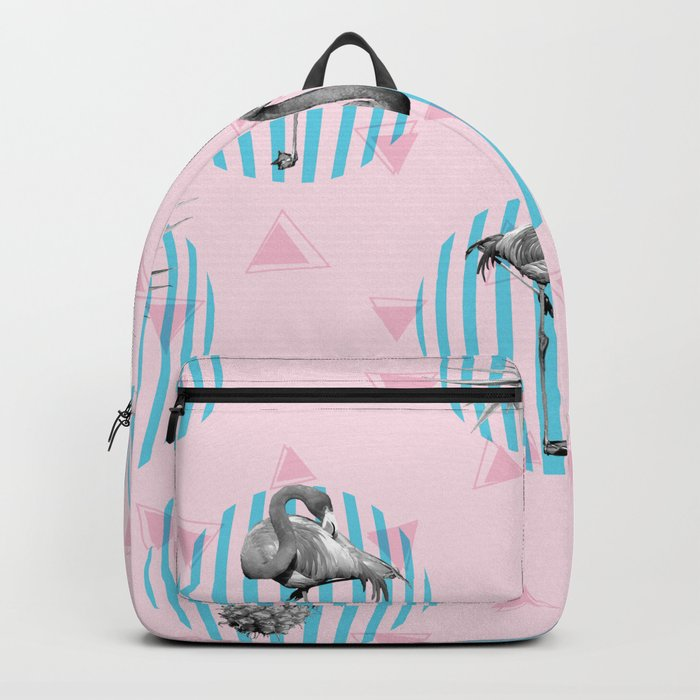 Flamingo pineapple with geometric Backpack