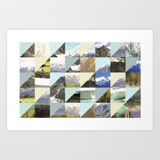 Rock Pattern Art Print