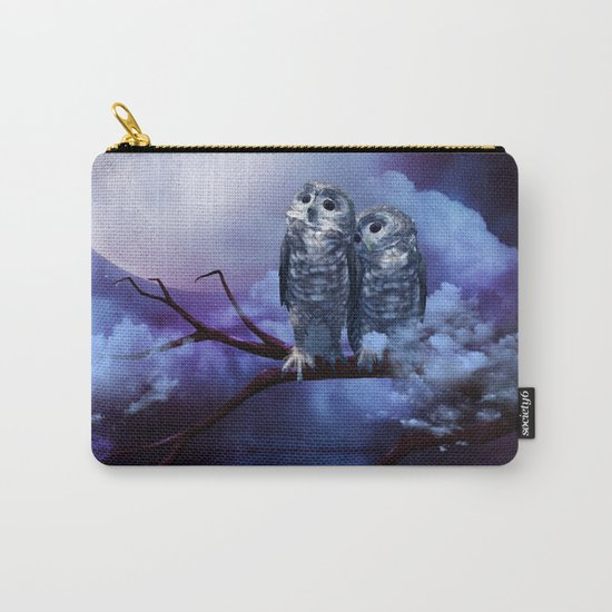 Cute couple owls Carry-All Pouch