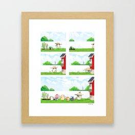 Pug Gardener Framed Art Print