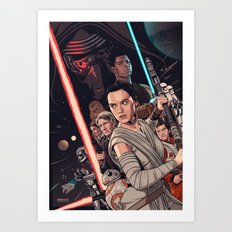 The Force Awakens - Movie Poster Art Print