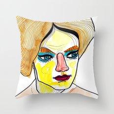 orange hair Throw Pillow