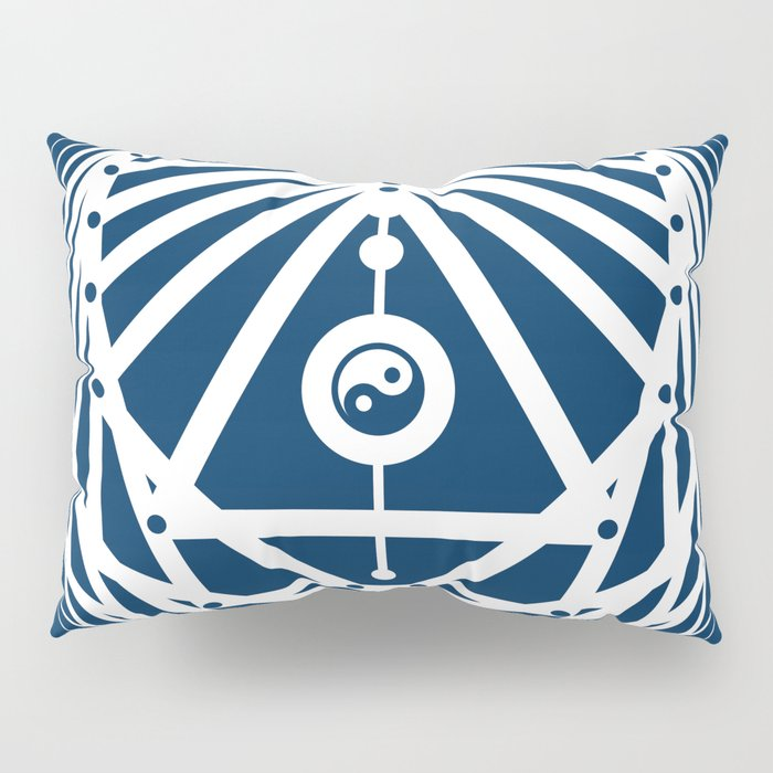 Radiant Abundance (blue-white) Pillow Sham