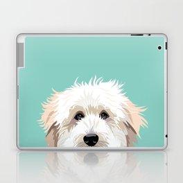 Golden Doodle pet portrait art print and dog gifts Laptop & iPad Skin