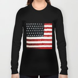 USA Flag ~ American Flag ~ Ginkelmier Inspired Long Sleeve T-shirt