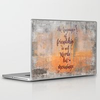 friendship Laptop & iPad Skins featuring Friendship by LebensART