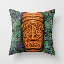 GoldTikiDude Throw Pillow
