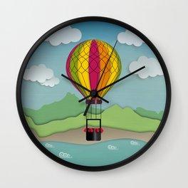 Balloon Aeronautics Sea & Sky Wall Clock