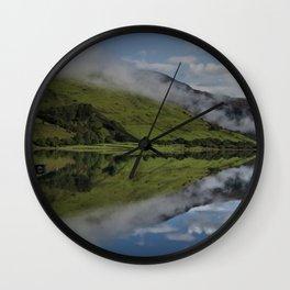 Reflection In The Llyn Mwyngil Wall Clock