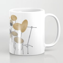 White Drum Kit Coffee Mug