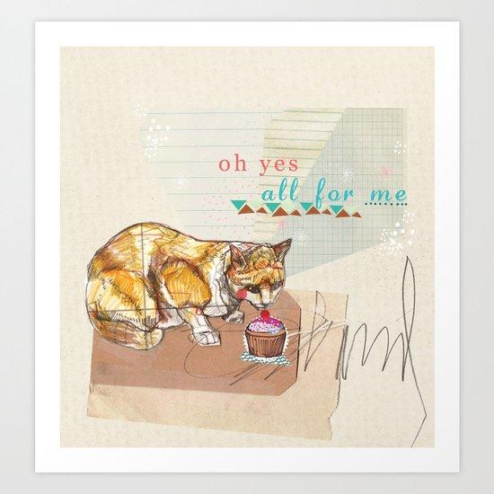 Illustration Friday- Dessert Art Print