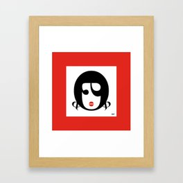 Bodoni Girl with Frame Framed Art Print