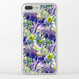 Daisy and Roses Variation Clear iPhone Case