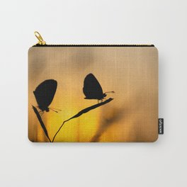Silhouette of moths Carry-All Pouch
