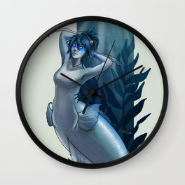 Blue Chromis Mermaid Wall Clock