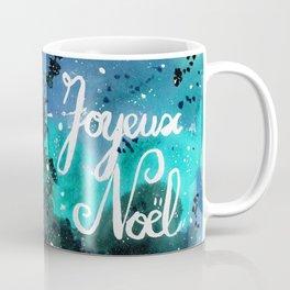Starry Night Christmas Card, Turquoise/Mint Galaxy Coffee Mug