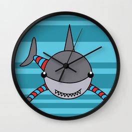 Baby toon shark Wall Clock