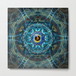 """Om Namah Shivaya"" Mantra- The True Identity- Your self Metal Print"