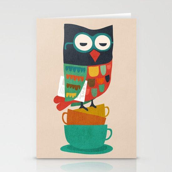 Morning Owl Stationery Cards