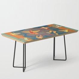 Hummingbirds in Orange Coffee Table