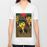 hats V-neck T-shirts featuring green hats by sladja