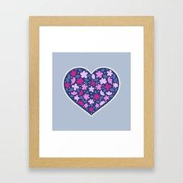Floral hearts Framed Art Print