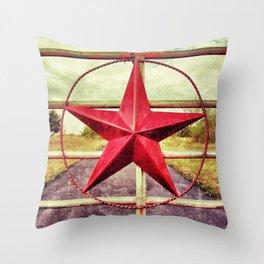 Texas Star Ranch Gate  Throw Pillow