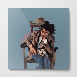 Basquiat and cat. Metal Print
