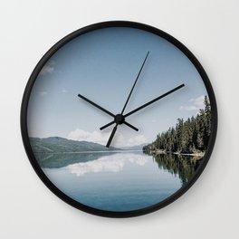 Fox Lake Reflection Wall Clock
