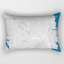 San Francisco city map grey colour Rectangular Pillow