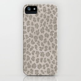 Vintage grange pastel color leopard print iPhone Case