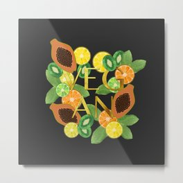 Vegan Fruit Metal Print