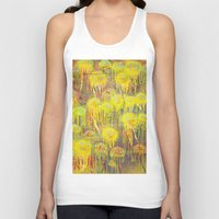 polka dot Tank Tops featuring Polka Dot Jellyfish by mark jones