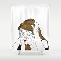 introvert Shower Curtains featuring Introvert 7 by Heidi Banford