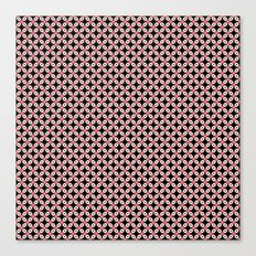 Pink Black Star Pattern Canvas Print