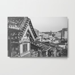 Korean Hanok Houses Metal Print