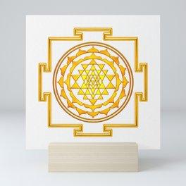 Sri Yantra - Golden Yellow Mini Art Print