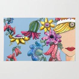 I Love the Flower Girl Rug
