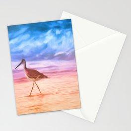 Sunrise Walking Bird Stationery Cards