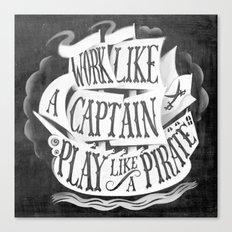 like  a pirate, black Canvas Print